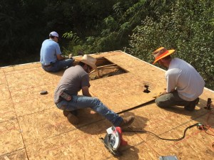 Replacing several pieces of roof decking