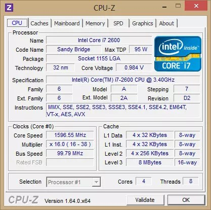 CPU-Z 1.80.2 CPUID - Check the computer hardware information