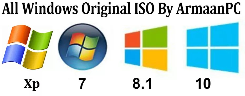 Windows (XP,7,8 1,10) Original ISO Download From Microsoft