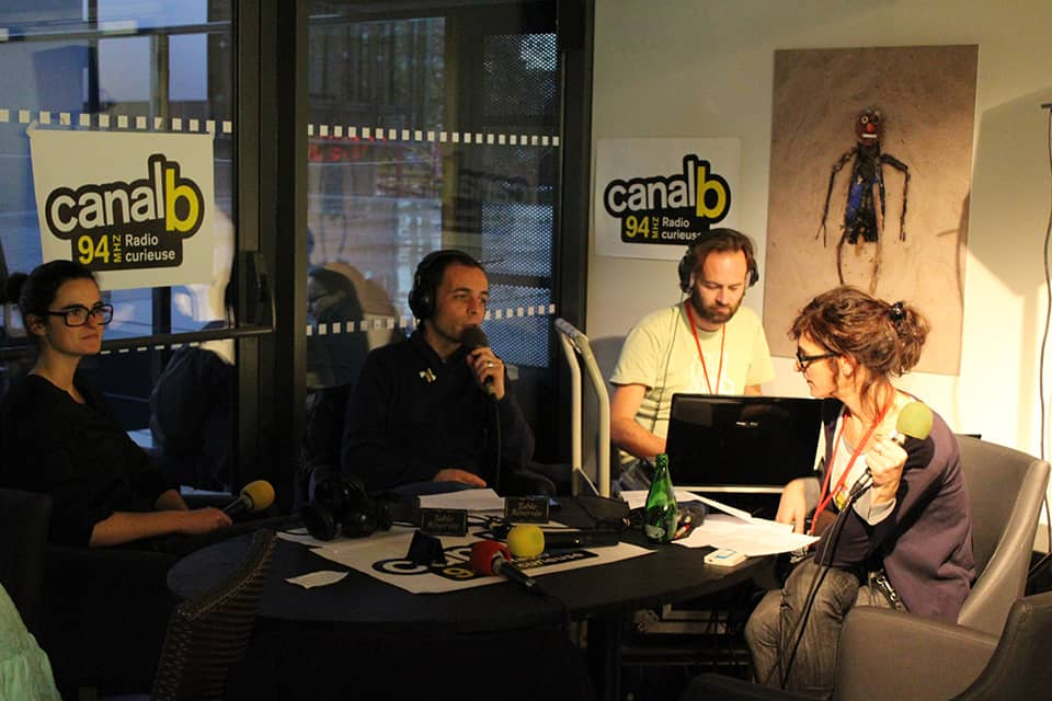 Photo enregistrement d'une émission de radio