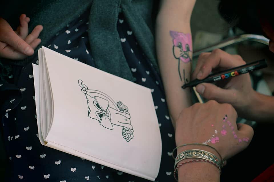 Photo - atelier tatouages éphémères par LISAA - La Fête #5