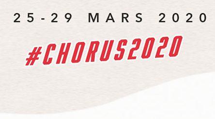 Chorus 2020 et dates