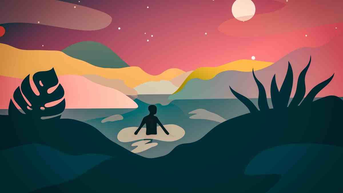 """Illustration du spectacle """"Quitter son caillou"""" de Victoria Follonier & Elie Blanchard"""