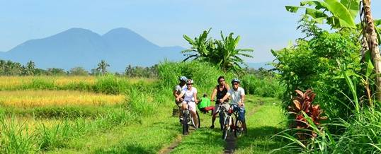 Outbound Bali Cycling and Tubing Bio Adventure