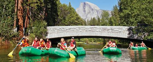 Rafting di Yosemite National Park