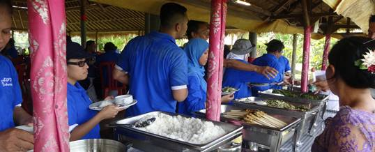Outbound di Bali Ubud Camp Lunch