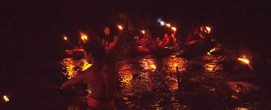 Outbound Bali Night Rafting Stop Point