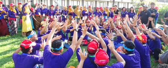 Outbound Bali Traditional Team Building Game – BNI 46