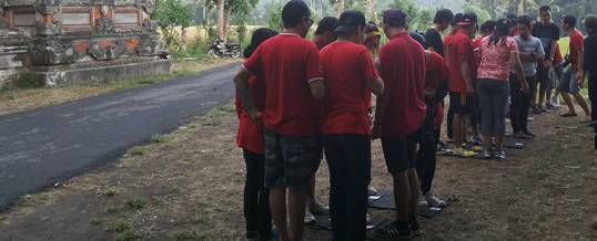 Outbound Di Bali Team Building & Cycling Bongkasa Puzzle