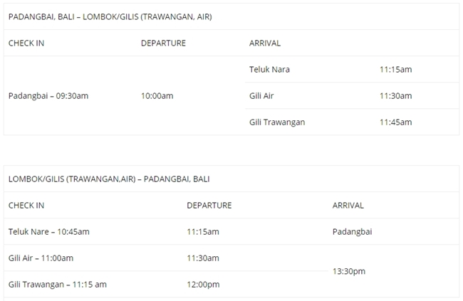 Jadwal Fast Boat Gili Gili Bali Ke Trawangan
