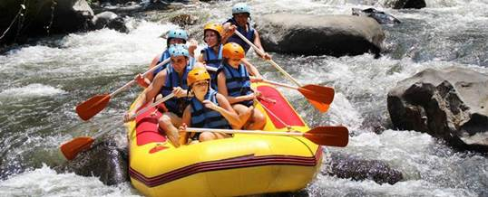 Paket Rafting Di Sungai Ayung Dan Telaga Waja Bali