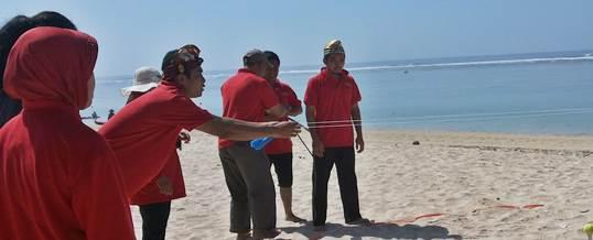 Team Building Pantai Pandawa Bali KPPN