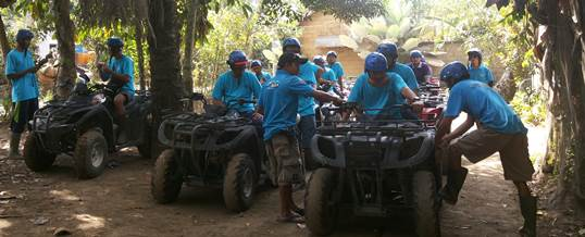 ATV di Bali Indonesia Power Yogyakarta Primaxindo Training