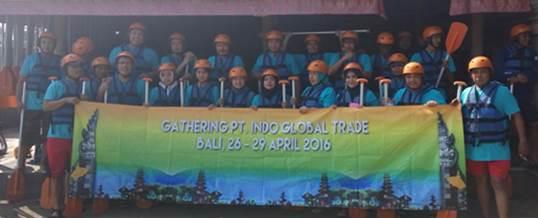 Gathering Tema Wisata Adventure Rafting - PT. Indo Global Trade 6