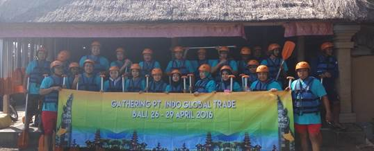 Gathering Tema Wisata Adventure Rafting - PT. Indo Global Trade 7
