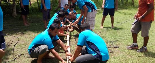 Outbound Team Building Game - PT Tri Wahana Universal II 2