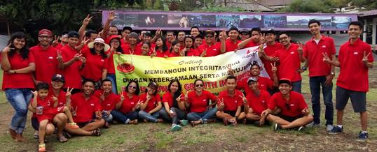 Outbound di Bali Ace Hardwere Supporting Toya Devasya