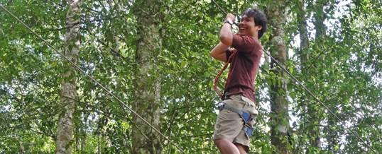 Outbound di Bali Treetop Kebun Raya Bedugul 09