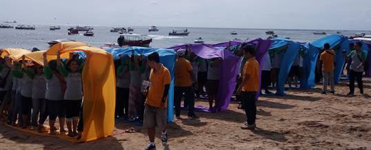 Outbound Team Building di Bali - Supporting Kaisa Travel Jaya Tour - BNI 46 Divisi SPI - Bolduser
