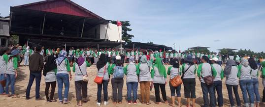 Team Building Pantai Tanjung Benoa - Supporting Kaisa Travel Jaya Tour - BNI 46 Divisi SPI - Ice Breaking