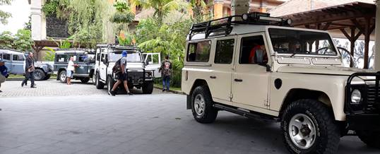 Outbound di Bali Nuansa Adventure Land Rover - Hotel Pick Up