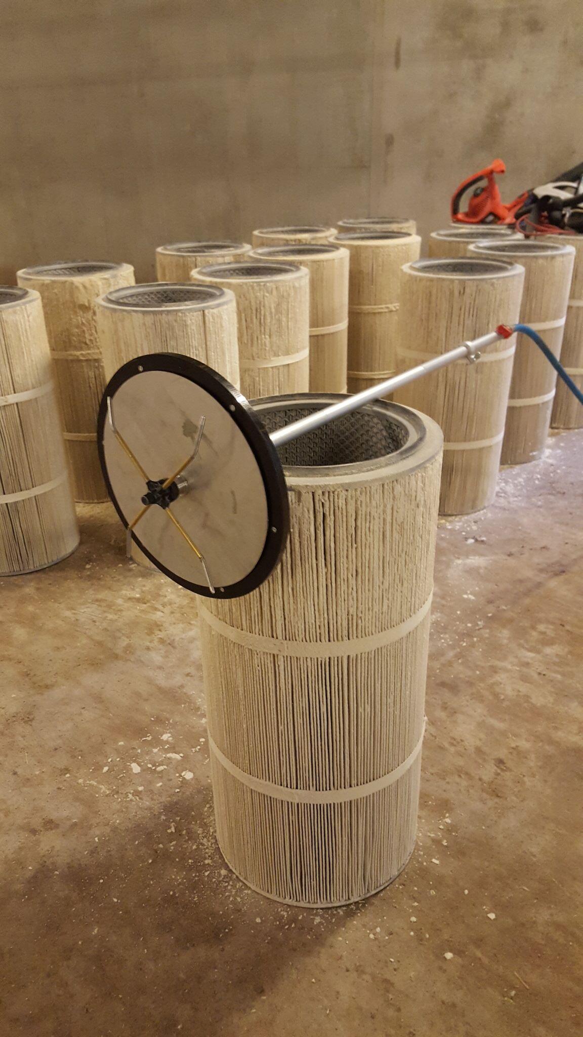 Luchtfilter reiniger in industrie
