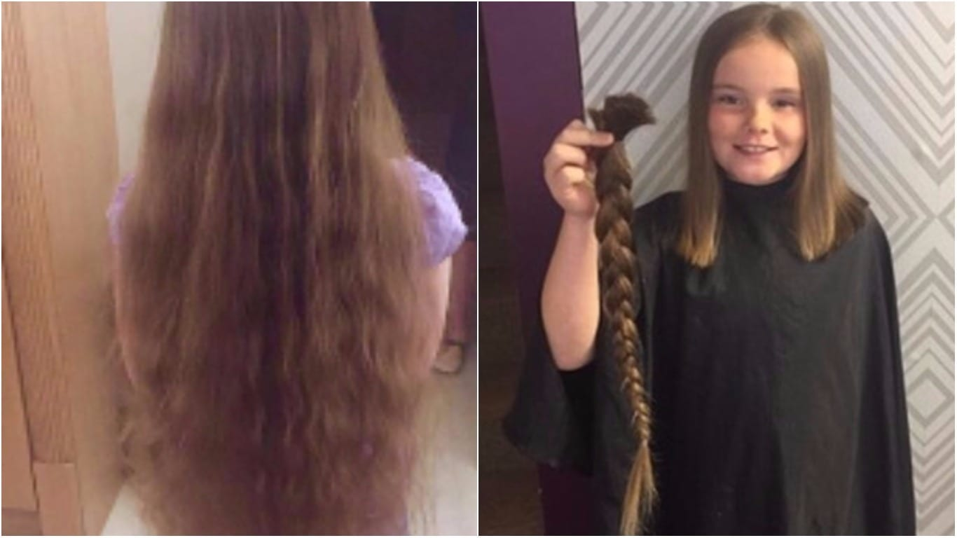 Nine Year Old Braves The Chop And Donates Hair To Little