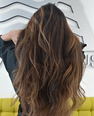 Hair extensions done at Salon Armandeus Coconut Creek