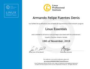 LPI Linux Essentials de Armando Felipe Fuentes Denis