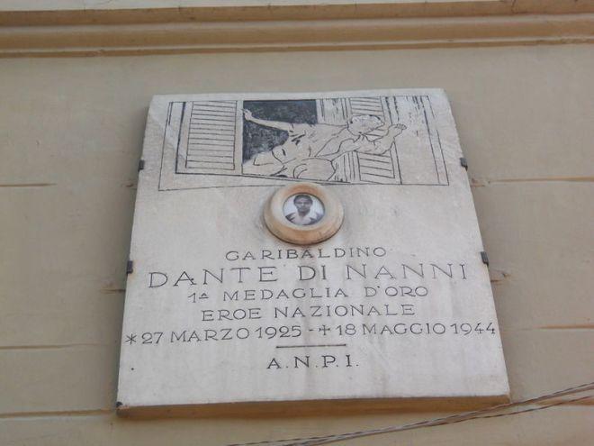 Dante Di Nanni: la targa commemorativa