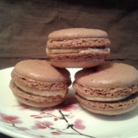 Chocolate-Chili Macarons with Cinnamon Buttercream