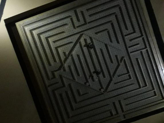 Complex ball in maze game.