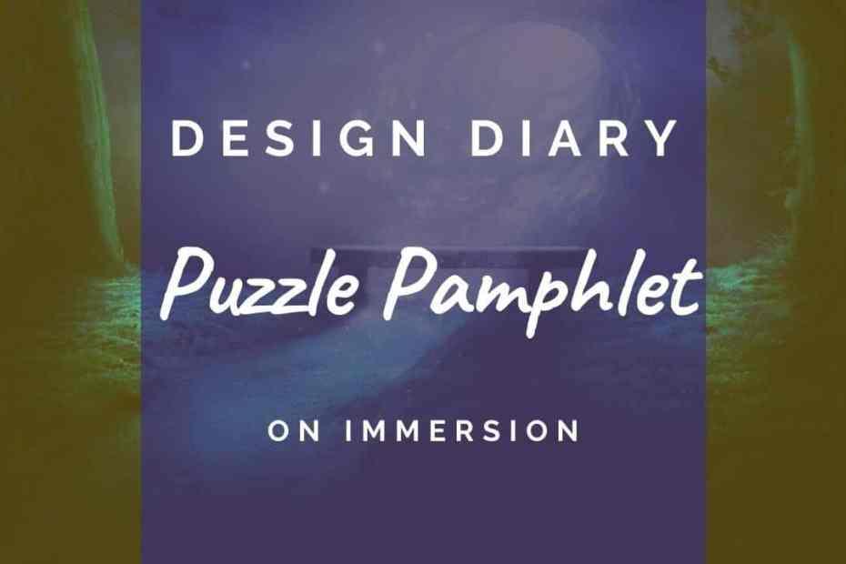 Design diary header