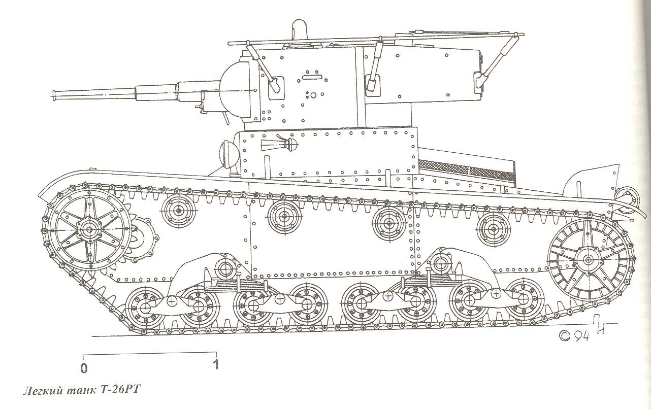 Mono Turreted T 26 Tank