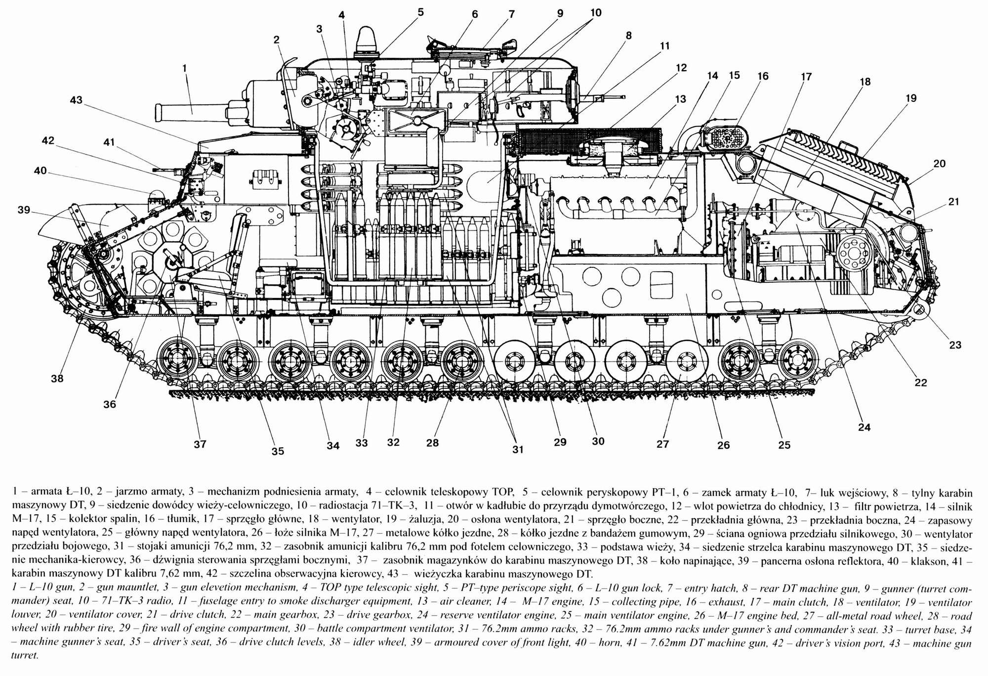 T 28 Armed With L 10 Gun Blueprints