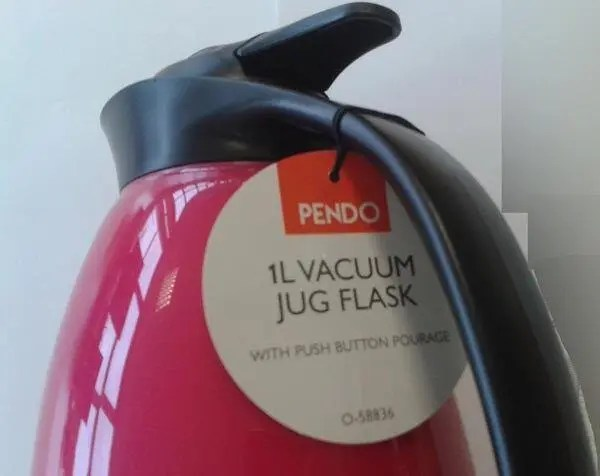 Insulated asbestos containing flasks on sale in UK - 1 litre Pendo jug flask