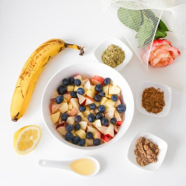 petit déjeuner sain Miam ô fruits