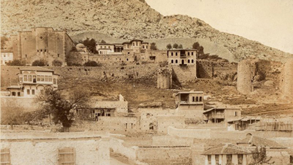 The historic Seat of the Catholicosate of Cilicia in Sis (present-day Kozan, Turkey). The church complex was seized by Ottoman authorities in 1921.