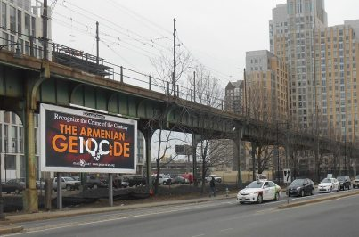 """Clear Channel has classified the billboard as a political awareness message—""""one of two sides of an issue""""—and removed the billboard located at Lechmere Station."""