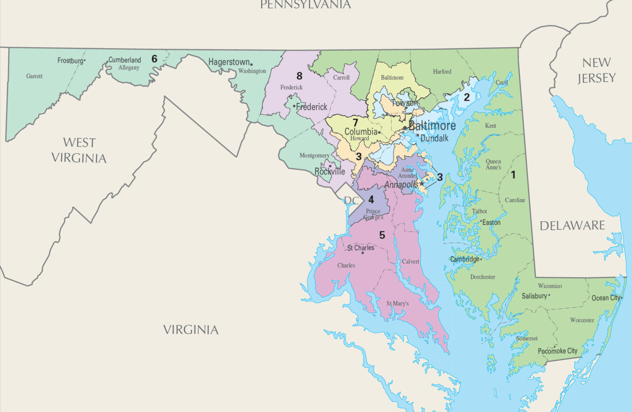 Map Monday gerrymandering US congressional districts