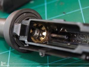 Interno del receiver con il tubo presa gas