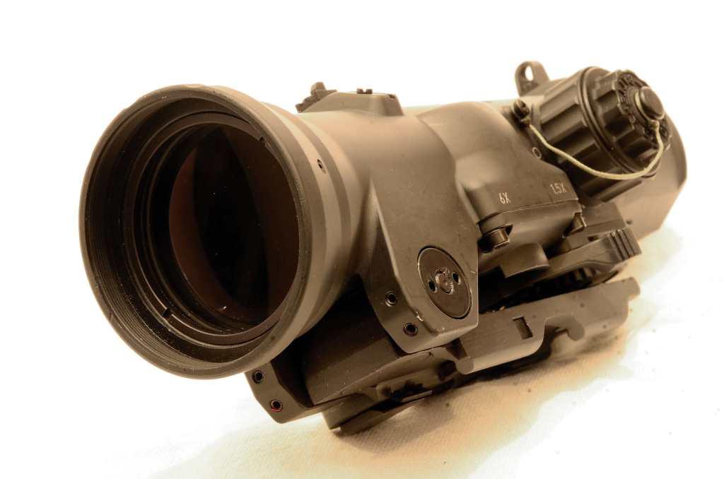 Elcan - Dettaglio frontale del modello 1.5-6×