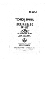 Ruger Ac556 Technical Manual
