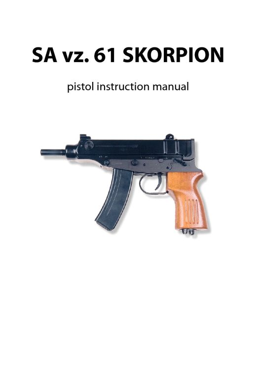 SA vz. 61 SKORPION pistol instruction manual