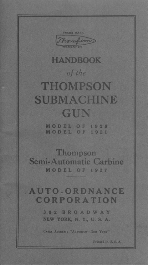 Thompson Tommy Full Auto 1927