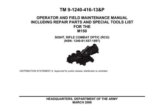 TRIJICON ACOG RCO TM-9-1240-416-13