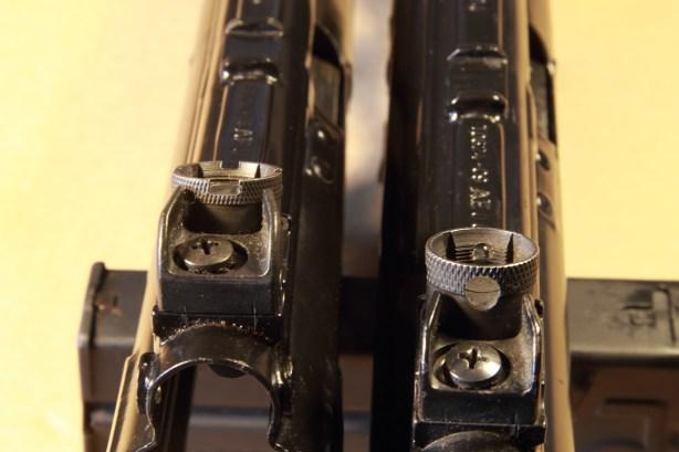 MKE T94K - Le mire del T94k (a sinistra) e quelle del normale tamburo degli altri modelli