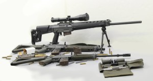 un SIG 551, un 553 ed un 550 sniper a confronto