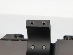 dettaglio delle sedi delle viti di serraggio degli anelli, ognuna presenta un Helicoil in acciaio per nn affidare la tenuta al solo alluminio