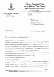 Banco 20171030 Demi Sport 29 Risposta M. Schiavo